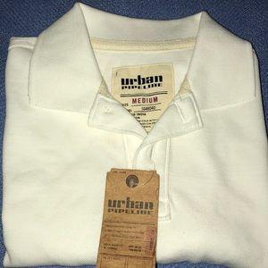 Urban pipeline,white polo shirt.size medium boys.
